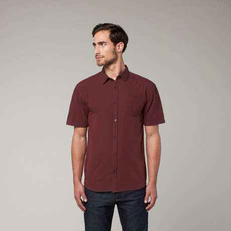 Artistry in Motion // Classic Solid Button Up // Bloodhound