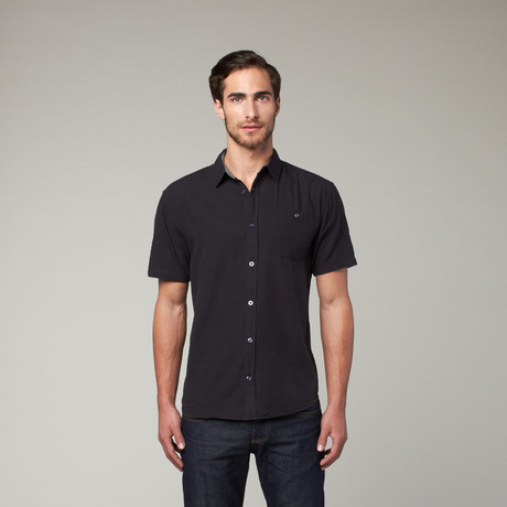 Artistry in Motion // Classic Solid Button Up // Black