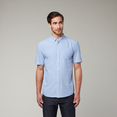 Artistry in Motion // Classic Solid Button Up // Dusty Blue