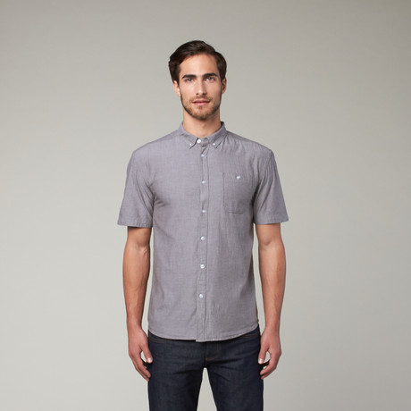 Artistry in Motion // Classic Solid Button Up // Night