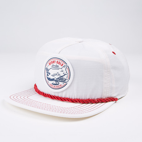Vacation Nylon Snapback Hat // White