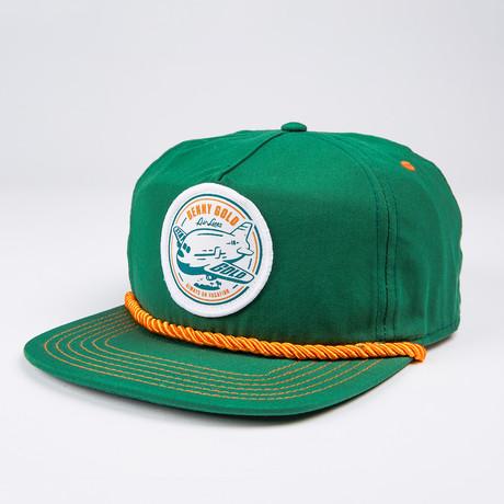 Vacation Nylon Snapback Hat // Green