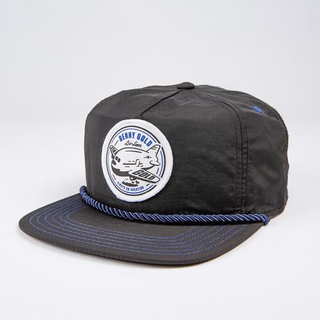 Vacation Nylon Snapback Hat // Black