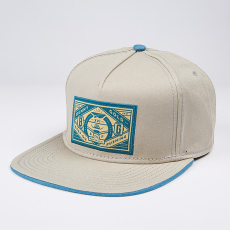 Truck Label Snapback Hat // Grey