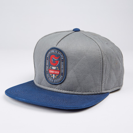 Torch Quilted Snapback Hat // Grey