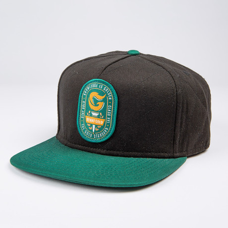 Torch Quilted Snapback Hat // Black