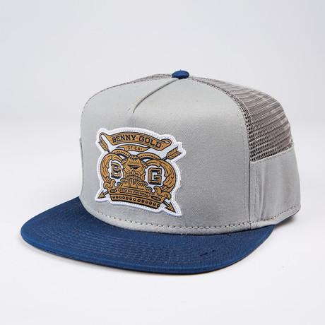 Royalty Side Mesh Snapback Hat // Grey