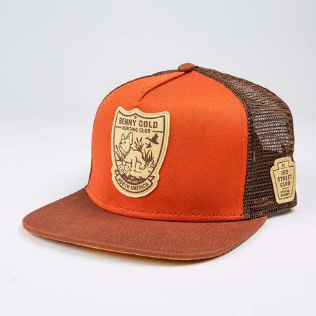 Hunting Club Mesh Trucker Hat // Orange