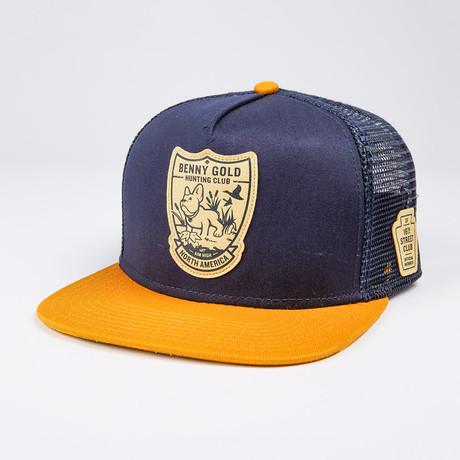 Hunting Club Mesh Trucker Hat // Navy