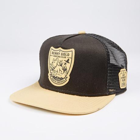 Hunting Club Mesh Trucker Hat // Black