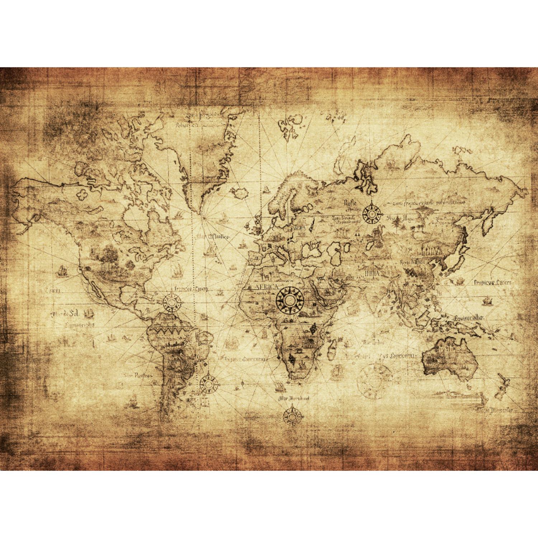 Columbus World Map X Intrepid Traveller Touch Of Modern - 36 x 48 world map