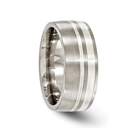 Wellington Titanium & Sterling Silver Brushed // 9mm
