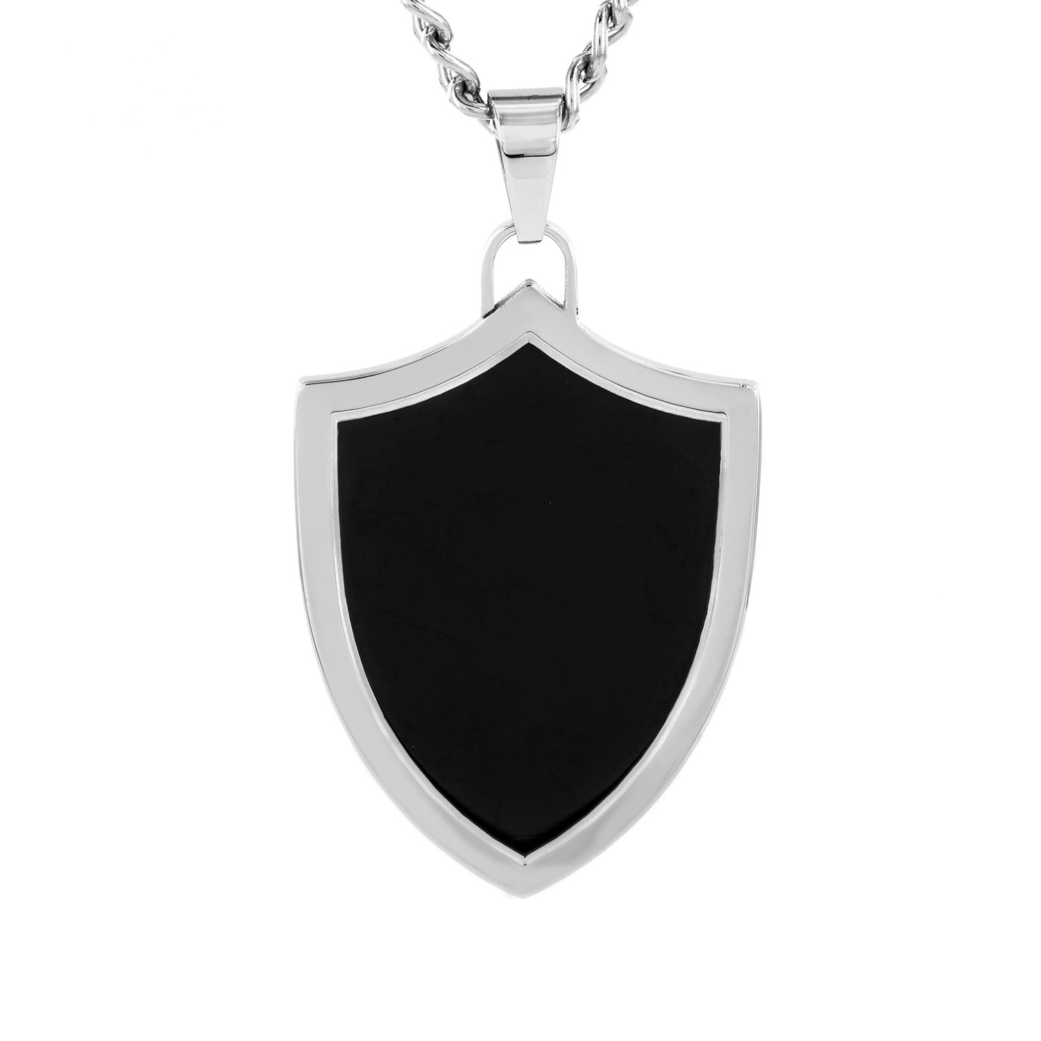 black single men in crucible Crucible men's black ip stainless steel cubic zirconia laser etched dog tag  the pendant features a raised cable design with black enameling and a single prong set.