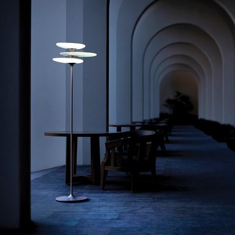 Coral Reef Floor Lamp // Silver