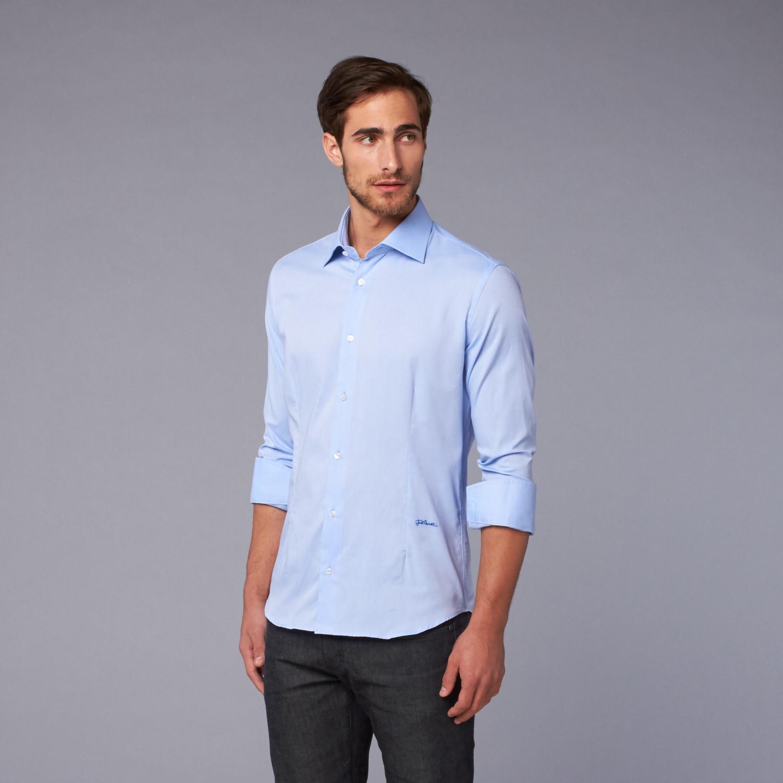 Just Cavalli Woven Cutaway Collar Shirt Sky Blue Us 39 Just