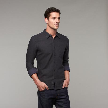 Brushed Midnight Slim Fit Button-Up // Dark Grey