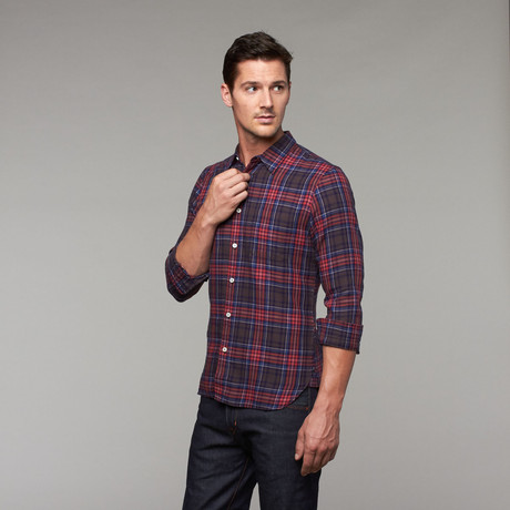 Heritage Slim Fit Button-Up // Red Plaid