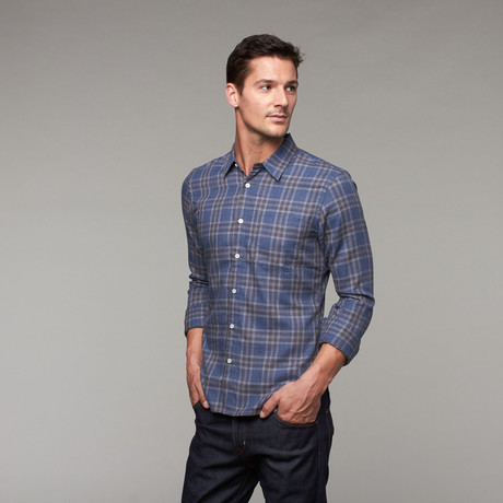 Salty Dog Slim Fit Button-Up // Blue Plaid