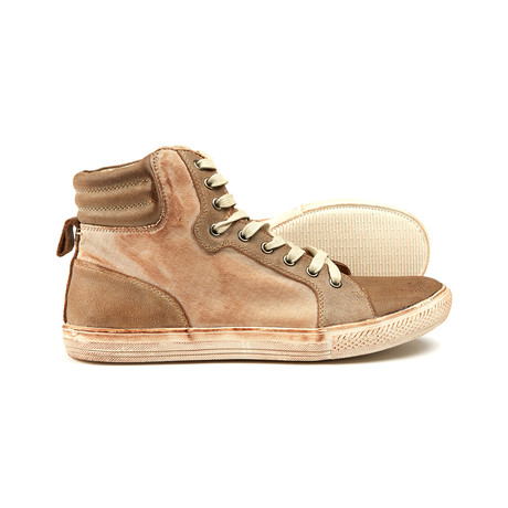 Jumps High Top Leather Sneaker // Tan