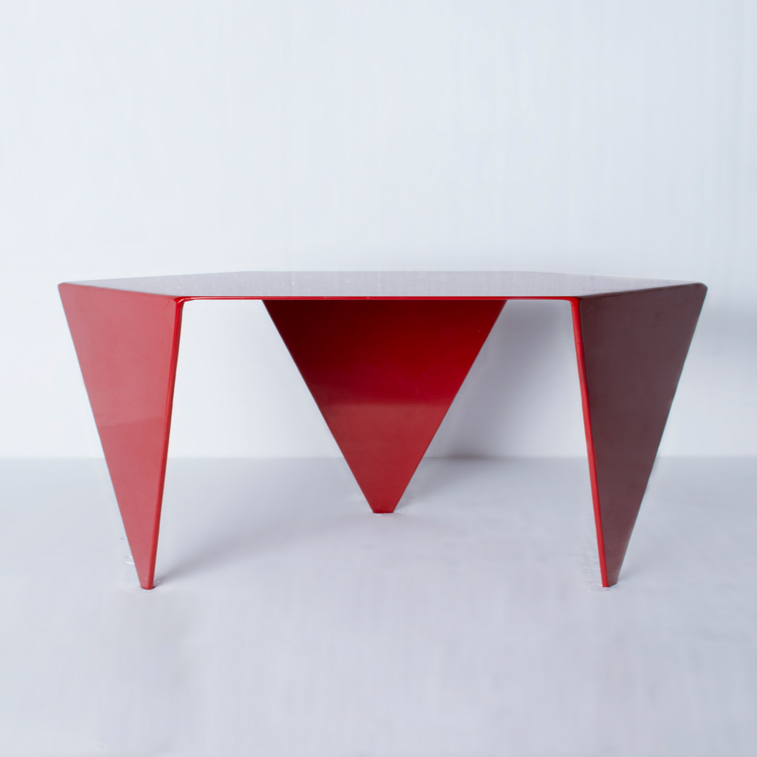 Hexagon coffee table mtharu touch of modern hexagon coffee table geotapseo Images