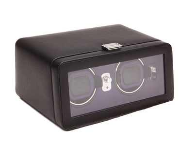 Photo of WOLF Windsor Collection Watch Winders Double Winder with Cover (Black + Purple) by Touch Of Modern