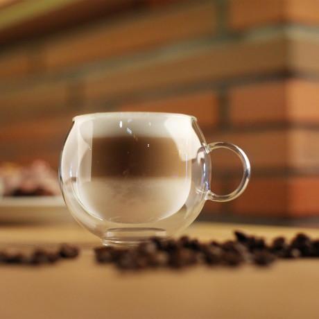 AMO // 2-Piece Double-Wall Glass Cup // 220mL