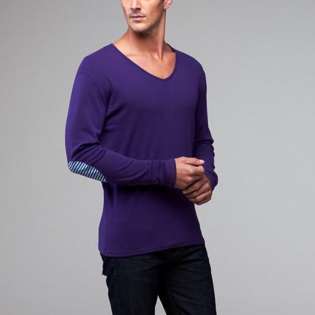 Violet V-Neck Sweater // Violet