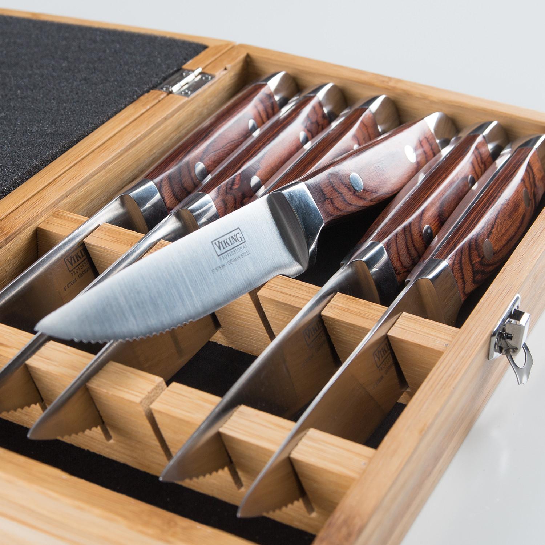 Pakka Wood 6 Piece Steak Knife Set Red Clearance Sale