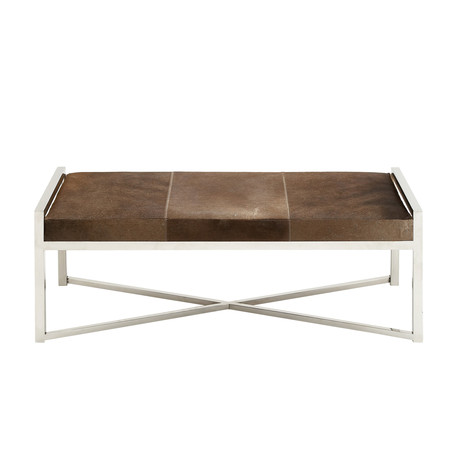 Classic Cowhide Bench