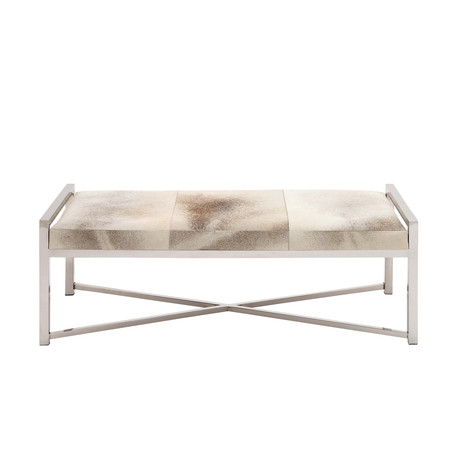 Stainless Steel Leather Bench