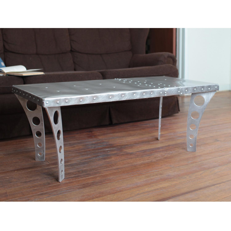 Jetset Coffee Table // Brushed Aluminum