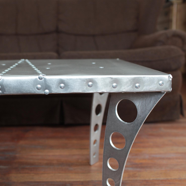 Brushed Aluminum Coffee Table: Jetset Coffee Table // Brushed Aluminum