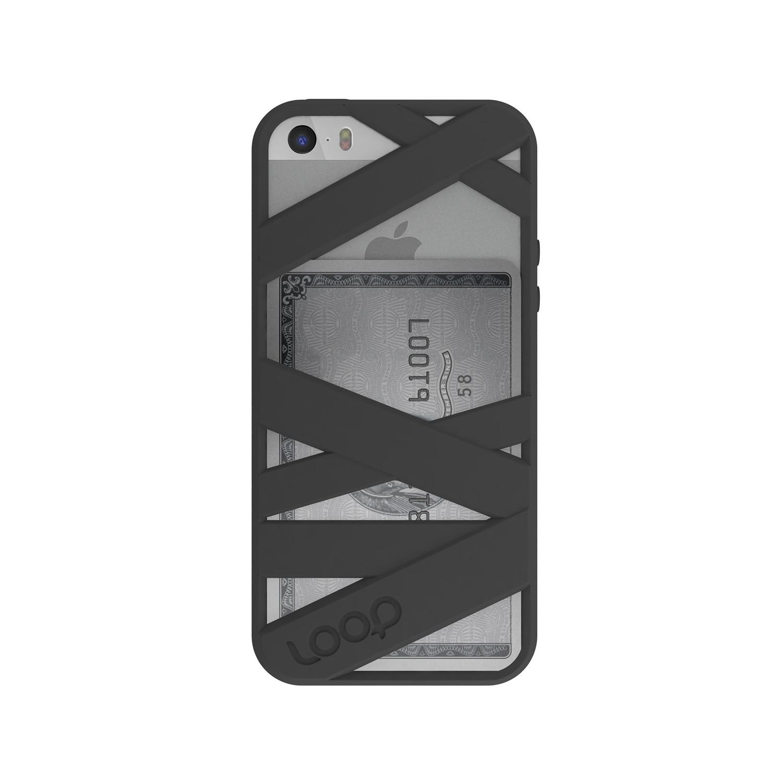 mummy case iphone 5 5s black loop attachment