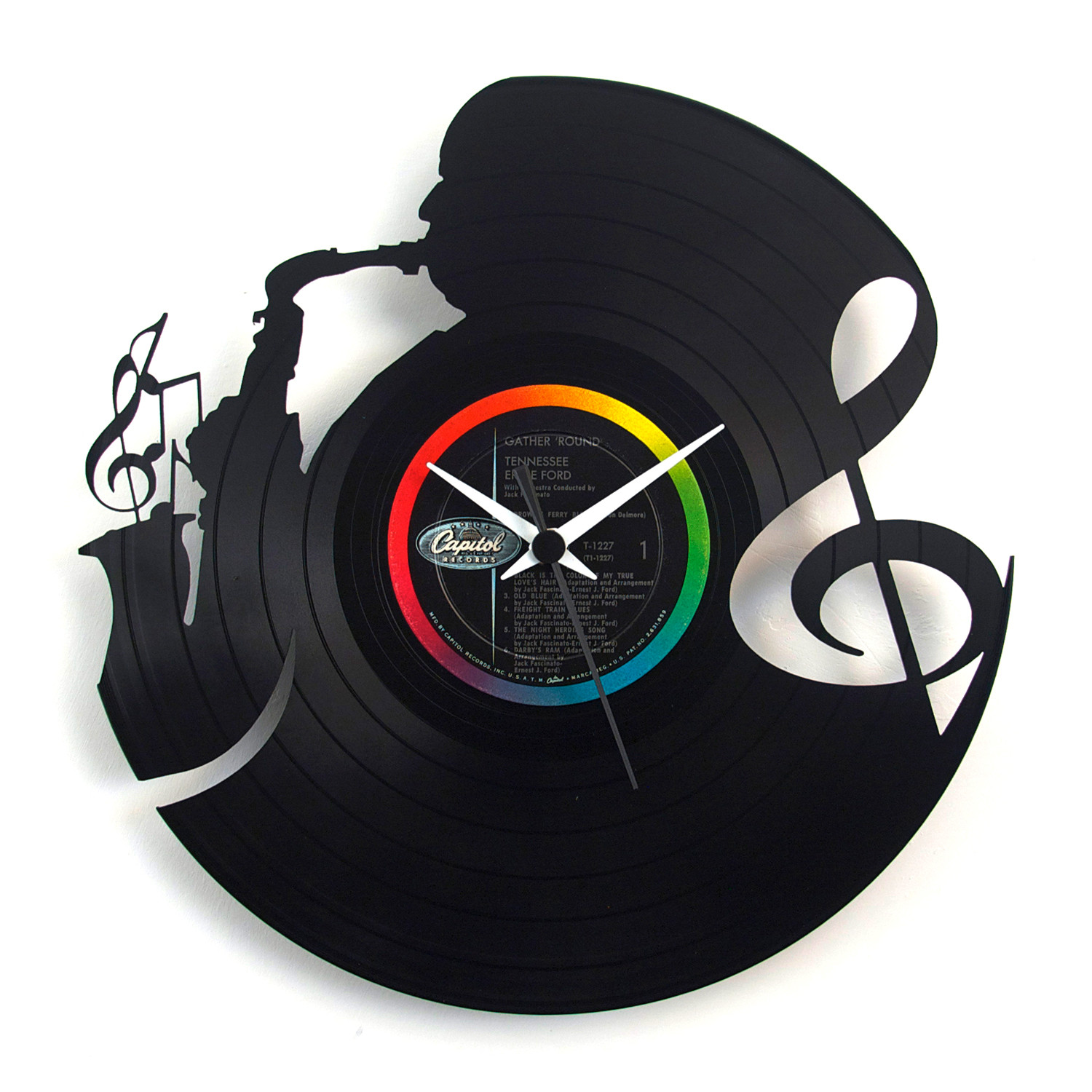 Music Clock Vinyluse Touch Of Modern