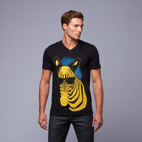 Zebra Mohawk V Tee // Black