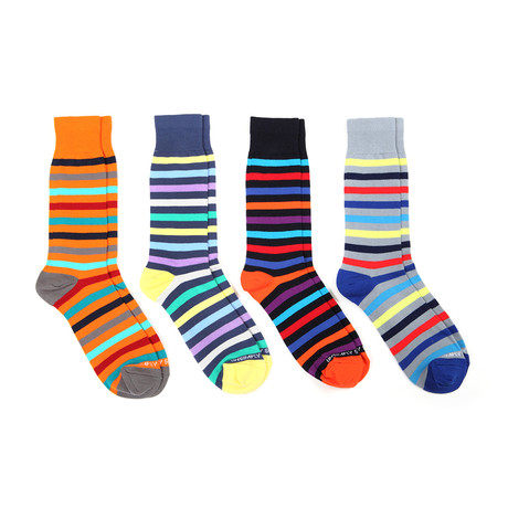 Assorted Stripes 5 // 4 Pack