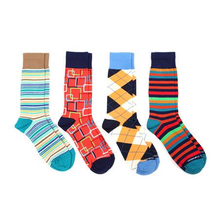 Squares & Stripes // 4 Pack