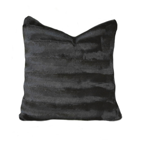 "Mink Pillow // Black (14""L x 20""W)"