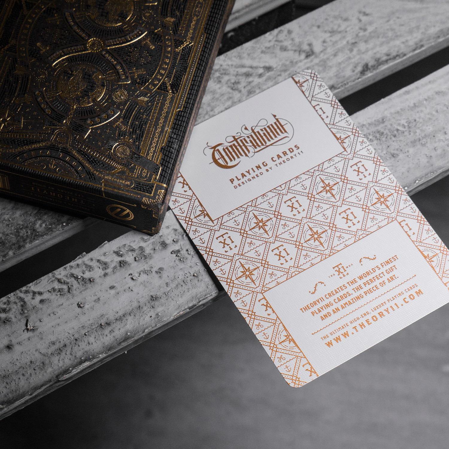 medallion contraband playing cards 2 deck set theory11