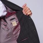 """Wool Two-Button Slim Fit Suit // Black Plaid (US: 38R / 32"""" Waist)"""