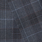 "Wool Two-Button Slim Fit Suit // Blue Plaid (US: 36R / 30"" Waist)"