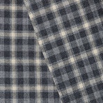 Wool Two-Button Slim Fit Sportcoat // Black + Grey Plaid (US: 38S)