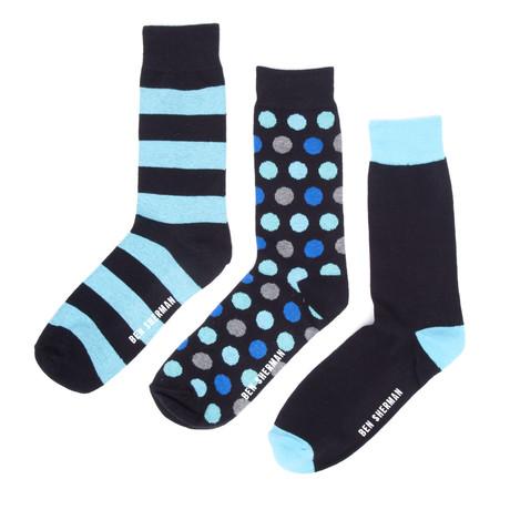 Bryce Dress Sock 3-Pack // Black