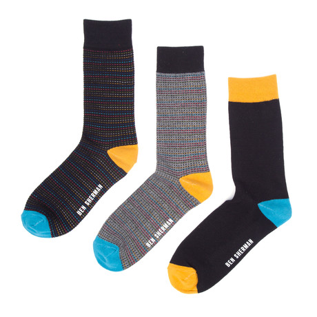 Henry Dress Sock 3-Pack // Black
