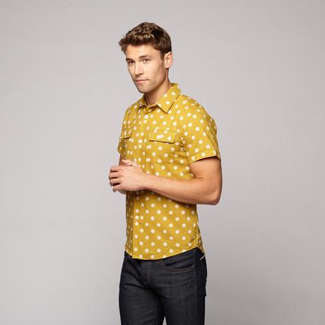 Mid-Century Poplin Shirt // Mustard + Natural