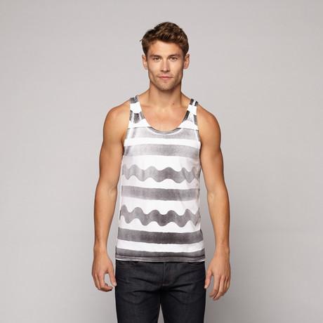 Stripe Tank // White