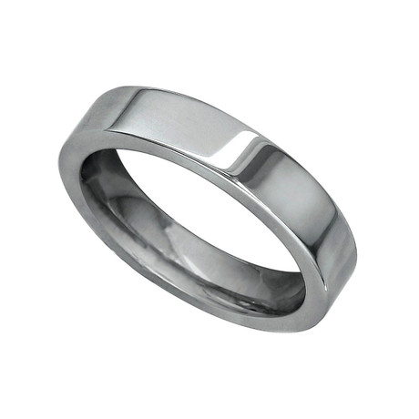 Flat Comfort Fit Titanium Wedding Band