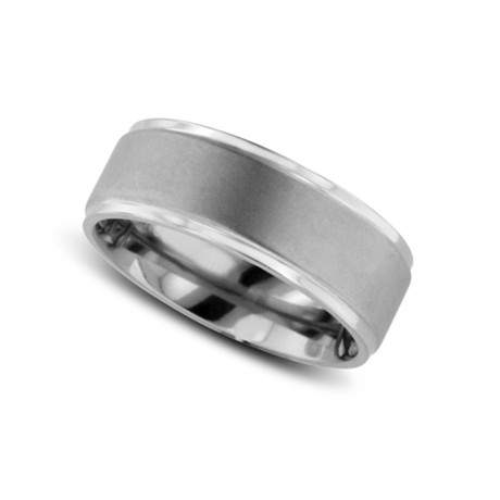 Brushed Finish Classic Titanium Wedding Band