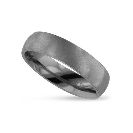 Brushed Finish Titanium Wedding Band