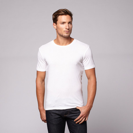 Heavyweight Scoop Neck // Solid White